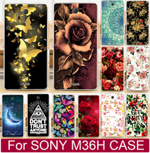 Beautiful Flower  Perfect Design Cell Phone Case Fundas For Sony Xperia ZR C5502 C5503 M36h Case Shell Cover