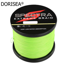 1000m/1100yards 4 strand Super Strong Multifilament Fluorescent yellow 100% PE Braided Fishing Line Material from Japan(Hong Kong,China)