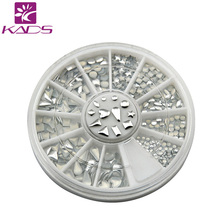 KADS nail metallic Flakes nail art decorations 3d nails accessories design bling metal shell flake metallic mixed Silver gold