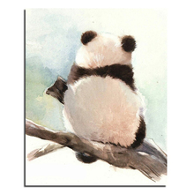 3D DIY Diamond Painting Panda Back 60x75cm Crafts Direct Selling Cotton Diy Diamond Embroidery Kit 3d Full New Needlework(China)