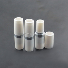 New Arrival 4g Lip balm Tubes Empty lip stick tube with silver collar DIY White Lipstick Packing container(China)