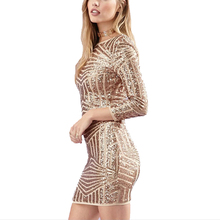 Hot sale Sequin mini sexy dress women Gold Backless party dresses Summer stripe Christmas bodycon dress Women Vestidos Plus Size