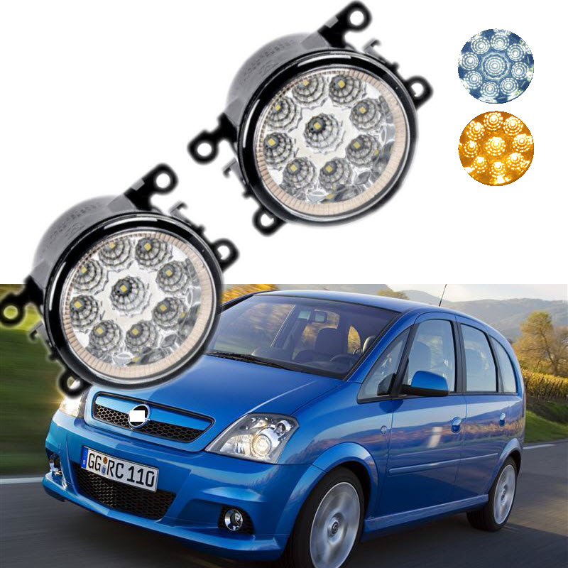 For Opel Meriva A 2006 2007 2008 2009 2010 9-Pieces Leds Chips LED Fog Light Lamp H11 H8 12V 55W Halogen Fog Lights Car Styling<br>