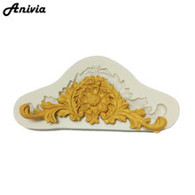 Anivia Flower Lace Silicone Mold Fondant Mould Cake Decorating Tools Chocolate Gumpaste Molds, Sugarcraft, Kitchen Accessories(China)