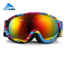 Hot Sale Kids Snow Sport Cycling Glasses Uv-protection Double Child Anti-fog Lens Ski Goggles Snowboard Skiing Goggle Boys Girls(China)