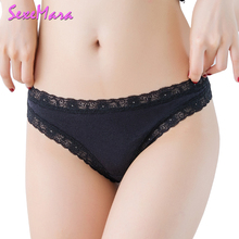 Buy Sexy Women Panties Cotton Underwear Thongs G-Strings Female Seamless Briefs Lingerie Floral Lace G Strings Womens Knickers YL044