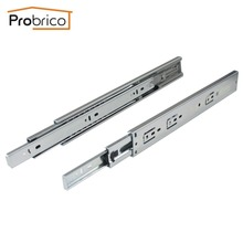 "Probrico 1 Pair 12"" Soft Close Ball Bearing Drawer Rail Heavy Duty Rear/Side Mount Kitchen Furniture Drawer Slide DSHH32-12A"