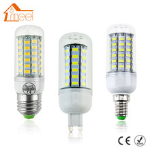 LED Lamp E27 E14 G9 SMD 5730 110V LED Bulb 220V 24 36 48 56 69leds Lampada LED Corn Light Chandelier Candle Ampoule Bombillas(China)