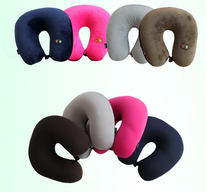 100 PCS Electric Massage Pillow Travel Home Neck Shoulder Relax Neck Massager U Shape Pillow Memory Pillows Device Health Care(China)