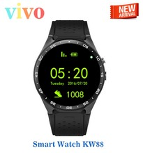 Новые! kw88 smart watch android 5.1 os 1.39 дюймов amoled экран 3 г wi-fi smartwatch телефон mtk6580 gps тяжести датчик шагомер