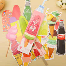 30 pcs/lot Cute Kawaii Ice Cream Soda Paper Bookmark Gift Stationery Film Bookmarks Book Holder Message Card School Supplies(China)