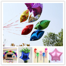 Wedding Decoration 10inch Helium Balloon Star aluminum Foil Balloons Inflatable Birthday baloon Party Decoration Ball 5pcs 5Z(China)