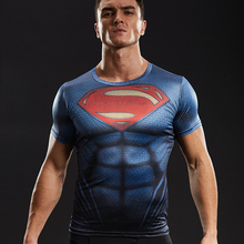 Superman 3D Printed T shirts Men Compression Shirts 2017 New Fashion Cosplay Short Sleeve Crossfit Tops For Male Fitness Clothes(China)