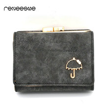 Small Hasp Women's Wallet For Mini Luxury Female Leather Wallets And Purses High Quality Lady Purse Clutch Card Holder Wristlet(China)