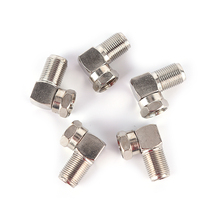 5pcs Right Angle 90 Degree Coaxial Connector Waterproof Connection F Male To F Female Adapter Connector RG6 RG5 New Sale(China)