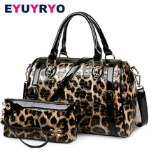 EYUYRYO Designer Purses and Handbags High Quality Patent Leather Luxury Leopard Women Bag Famous Brand Shoulder Bags sac a main(China)
