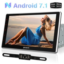 Capacitive Screen!2 Din 10.1'' Android 7.1 Universal Car Radio DVD Player GPS Navigation DAB+ Car Stereo Wifi 3G USB Headunit