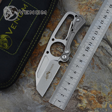 Venom DPx HIT Kevin John knife Cutter TC4 titanium 9Cr18MoV Tactical camping hunting outdoors pocket survival knives Tools gear