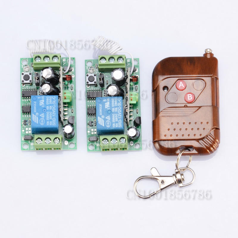 DC12V 1CH wireless controller receivers 315MHZ/433.92MHZ for automation home garage door remote control switch system<br><br>Aliexpress