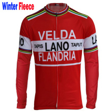 2017 men red Winter Fleece long sleeve cycling jersey / no Fleece cycling clothing bike wear Arbitrary choice