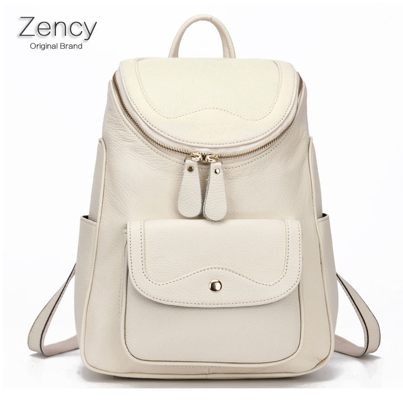 ZENY Nature Real Leather Female Backpack Famous Brands Genuine Cow Leather Bags Soft Top Layer Cowhide Women Backpack Tote Bag<br><br>Aliexpress