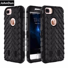 Case For Apple iPhone 6s 7 Soft Silicone + PC Anti Shock 3D Protection Tough Armor Case For iPhone 7 6 Plus Full Body Back Cover