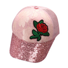 2017 Children Hat Mesh tennis Cap Roses Embroidery Cotton Mesh Cap Baseball Caps Snapback Hat For Boy Girl Hip Hop Cap Sun Hat