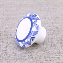 8PCS Lovely Ceramic Knobs drawer chest shoe cabinet Knob Pulls, Childern Room Kitchen Bedroom Furniture knob(China)