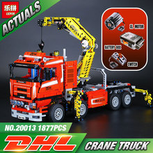Lepin 20013 New 1877pcs Technic Ultimate Mechanical Series The Electric Crane Truck Set Building Blocks Bricks Toys  8258