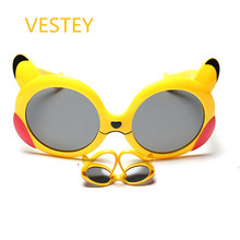 Classic Infant Baby Kids Polarized Cartoon Shades Sunglasses Children Safety Coating Glasses Sun UV 400 Protection oculos de sol