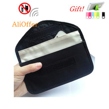 Cell Phone RF Signal Shield Blocking Jammer Bag Mobile Cellular Pouch Case 6' for Samsung S5 S6 Anti-Degaussing Anti-Radiation(China)