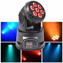 (1 pieces/lot) dj moving head lights led wash mini 14 channels rgbw quad with advanced 14 channels