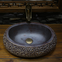 Jing Yan Jingdezhen Zen small washbasins Taiwan Basin on the ancient Chinese sculpture art basin ceramic basin(China)