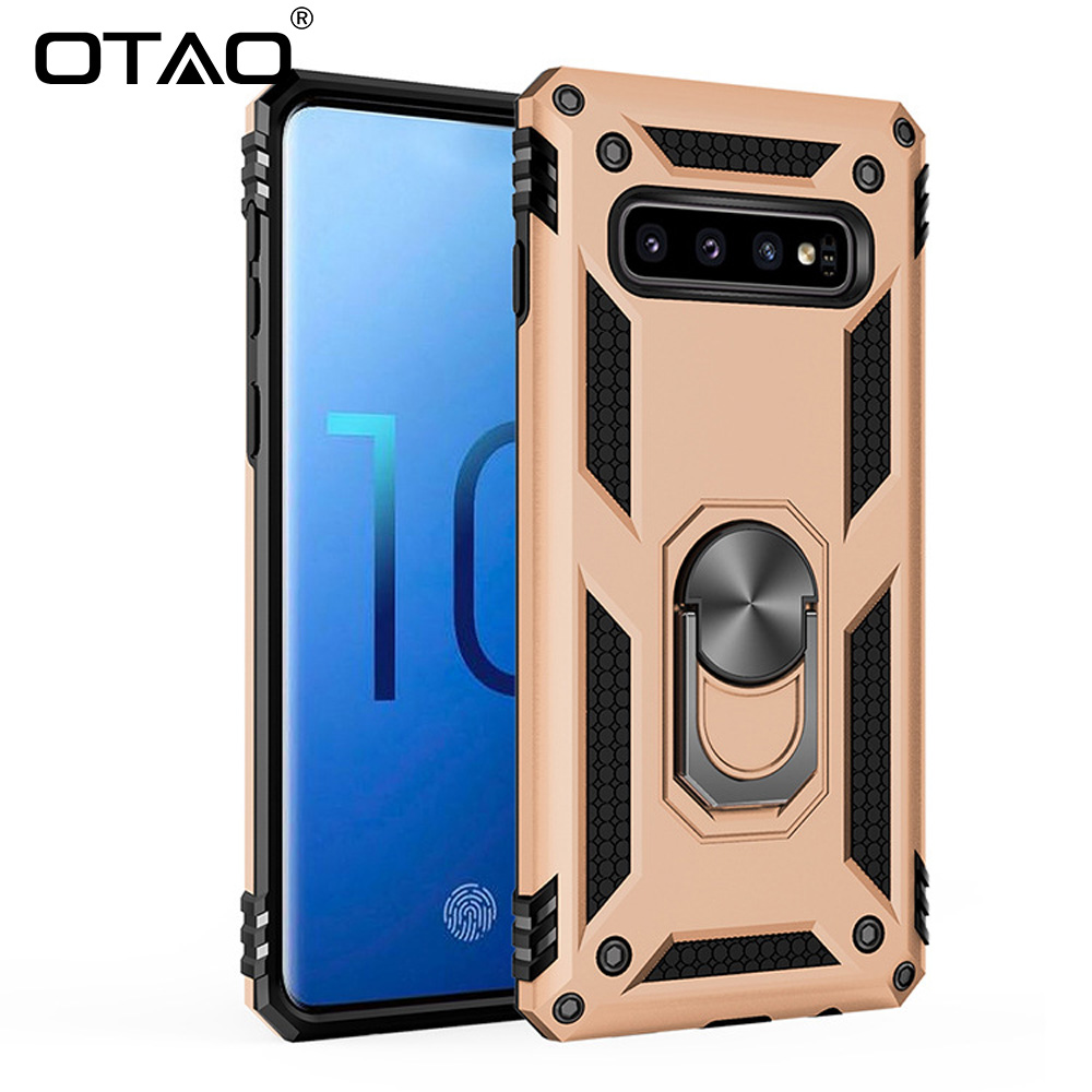 OTAO Ring Holder Case For Samsung Galaxy S10 S9 S8 Plus S10e A7 A6 A8 J5 J7 Car Magnet Case Armor Shockproof Cover For Note 8 9(China)