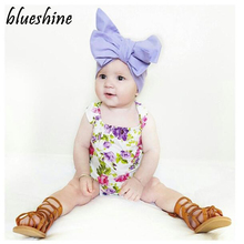 Summer Baby Girl Clothes Infant Suspenders Ropa de bebe nina Flower Print Baby Wear Jumpsuits Clothing Suit Baby Romper