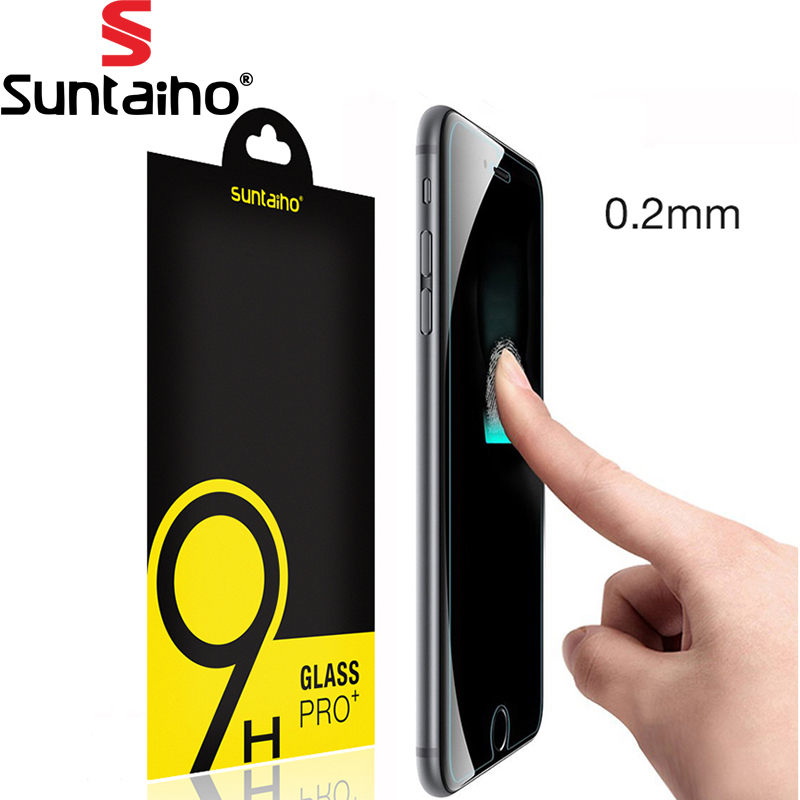 Suntaiho 2.5D Ultra-thin 0.2mm Screen Protector iPhone 7 Plus Glass tempered Screen Protector Film iPhone 7 9H Glass