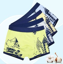 Super Quality Cotton Underwear For Boys Boxers 4 Colors Teenagers 3 To 14 Years Printed Shorts Young Men Panties 2 PCS / Sets