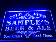 DZ049- Name Personalized Custom Beer & Ale Vintage Bar Cold Beer   LED Neon Light Sign  hang sign home decor  crafts