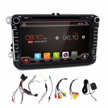 2 din Android 6.0 car dvd player gps radio for VW Volksvagen Passat B5 Golf Seat Leon Bora Polo Seat FREE canbus+map card gift