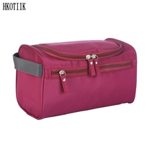 2017 fashion waterproof men's cosmetic bag nylon travel organizer make-up lady large necessities cosmetics toilet bag(China)