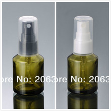 30ML green glass bottle with white/black mist spray pump sprayer bottle perfume bottle(China)