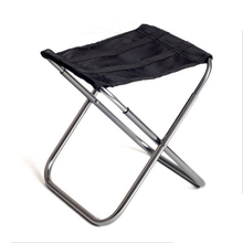 Portable Outdoor Aluminium Alloy Fishing Chair Seat Folding Stool Camping Hiking Picnic Chairs Barbecue H199(China)