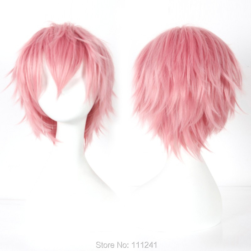 Blue Exorcist Shima Renzo Cosplay wig costume Pink colour<br><br>Aliexpress