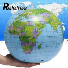 Relefree 30cm Inflatable PVC World Globe Earth Map Geography Aid Beach Ball Toy Water Sport Swimming pool Accessories