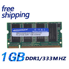 KEMBONA Laptop DDR1 RAM 333MHZ 1GB factory price ddr1 NBDR11G33316C(China)