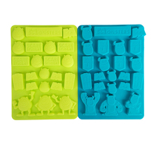 Mr.Q and Sullivan Chocolate Mould Hot Cartoon Figure silicone ice lattice  DIY Pastry biscuits cake mold