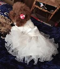 Various Luxury Princess Pet Dog Wedding Dress Cat Dress Puppy Skirt clothes Pet Tutu Skirt Bride Costume Supplies XS to 2XL(China)