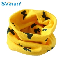 Womail New Fashion Boys Girls Butterfly Pattern Cotton O Ring Kids Winter Fall Scarf Dec21 Drop Shipping