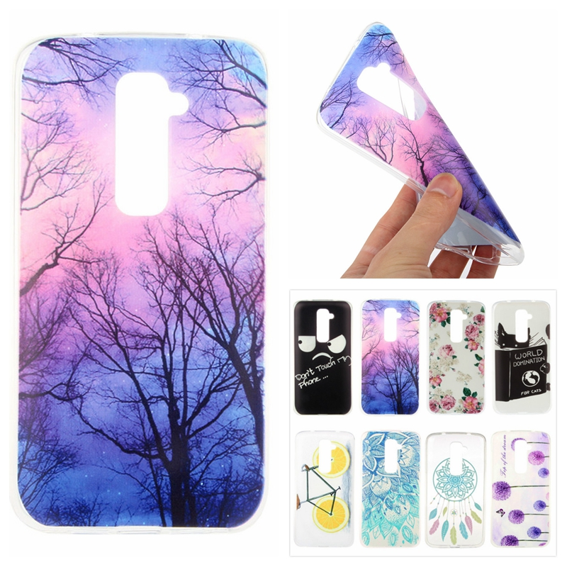 Cases LG G2 D801 F320 D802 VS980 F340L Cute Slim Painted Back Case LG G2 TPU Transparent Clear Soft Silicon Phone Cover