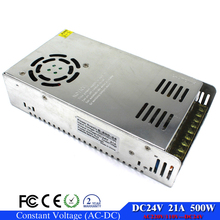 Switching power supply DC 24V 21A 500W Single Output LED power supply transformer 220v 110v AC to DC24V  for cctv led light Lamp
